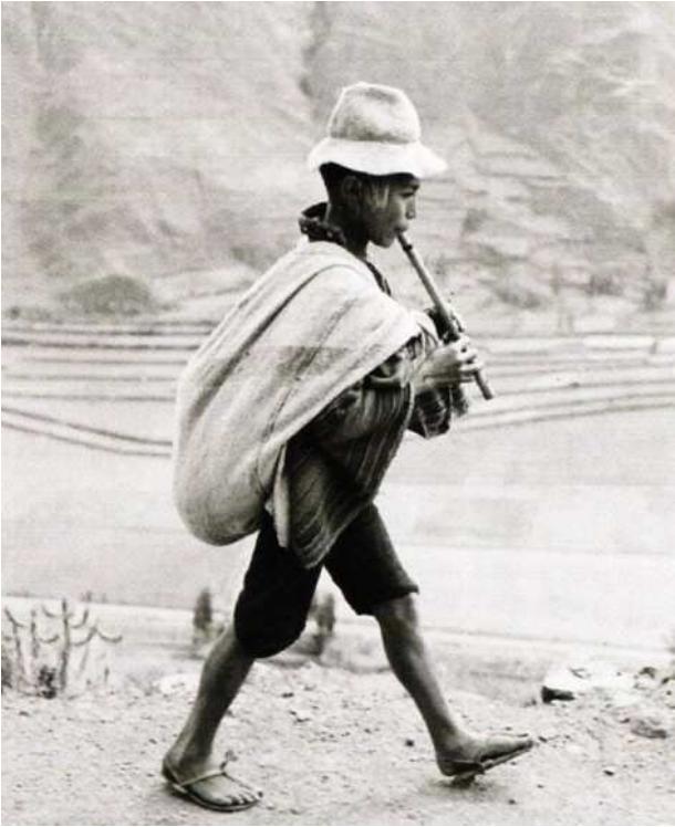 Werner Bischof. Sur la route de Kuzco, Perou 1954 Exceptionnel tirage 50 x 60 cm.