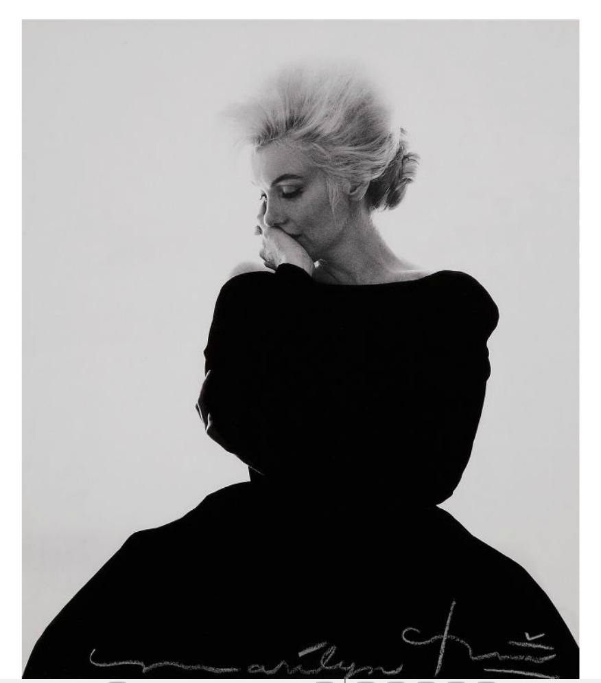 BERT STERN (1929-2013) Marilyn Monroe in Vogue 1963. 32 x 25 cm on a sheet 48 x 30 cm Estimate: € 3,500- 4,500 Tajan