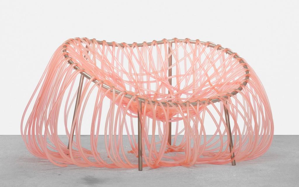 Fernando and Humberto Campana, Anemone chair. Edra, Brazil / Italy, 2000 plastic tubing, powder-coated steel, aluminium. 119 x 91 x 65 cm. Price est.: $2,000–3,000