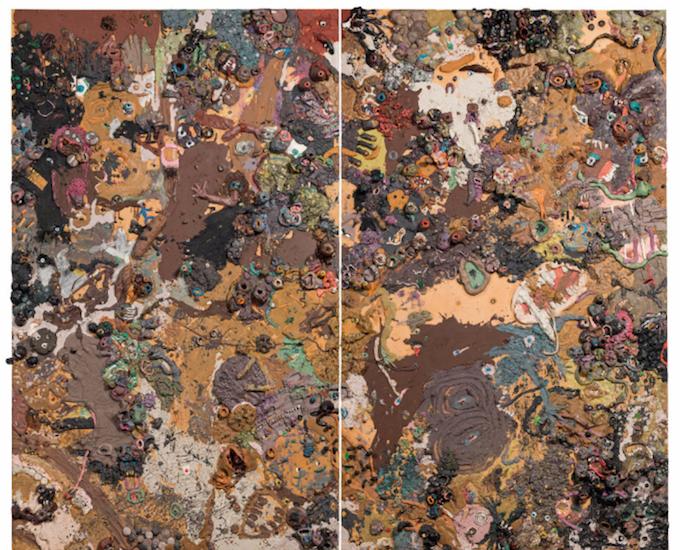 Gelitin Gelitin * Guernica, 2005 plasticine on wooden panel; unframed; 207 × 250 cm Price est.: € 20,000 - 40,000