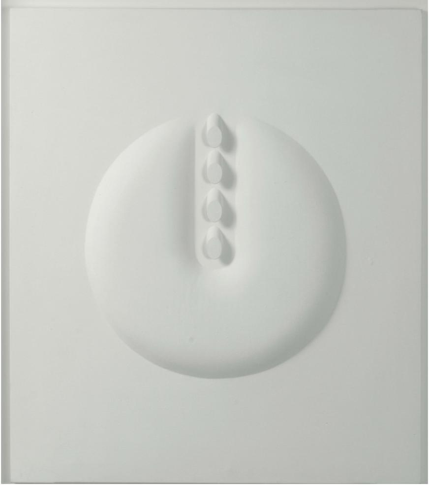 """Agostino Bonalumi """"Bianco"""", 1966. everted canvas and tempera vinyl. Price est.: € 150.000 - 180.000"""