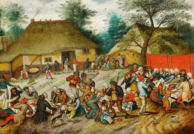 Pieter Brueghel the Younger. 1564 Brussels - 1637/1638 Antwerp. The Peasant Wedding Feast. Oil on panel. 41.5 x 58.9 cm.