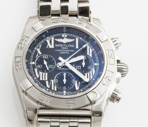 "BREITLING Chronomat 44, ""Tachymetre"", Chronometre, kronograf, armbandsur, 44 mm, c. 2011 Price est.: c. € 4792  Bukowskis"