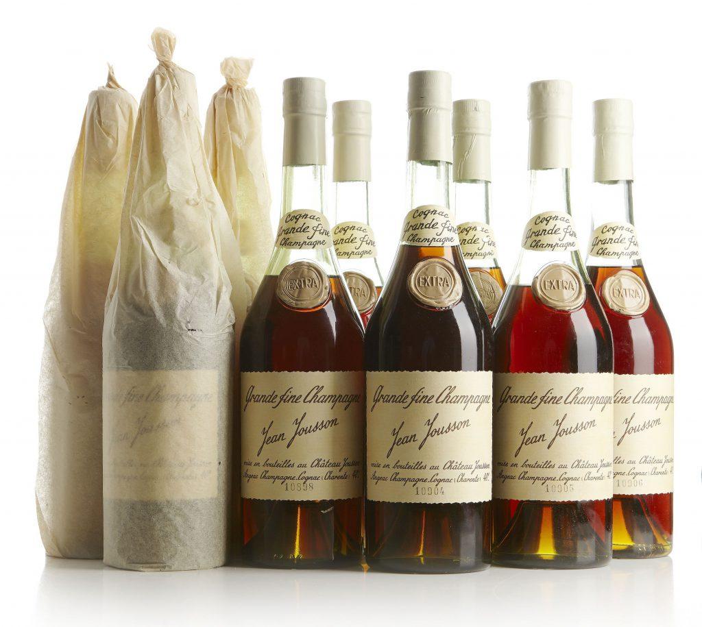 Cognac Extra Fine Grande Champagne. Mid 1950s. Price est.: c. € 1600  Stockholms Auktionsverk
