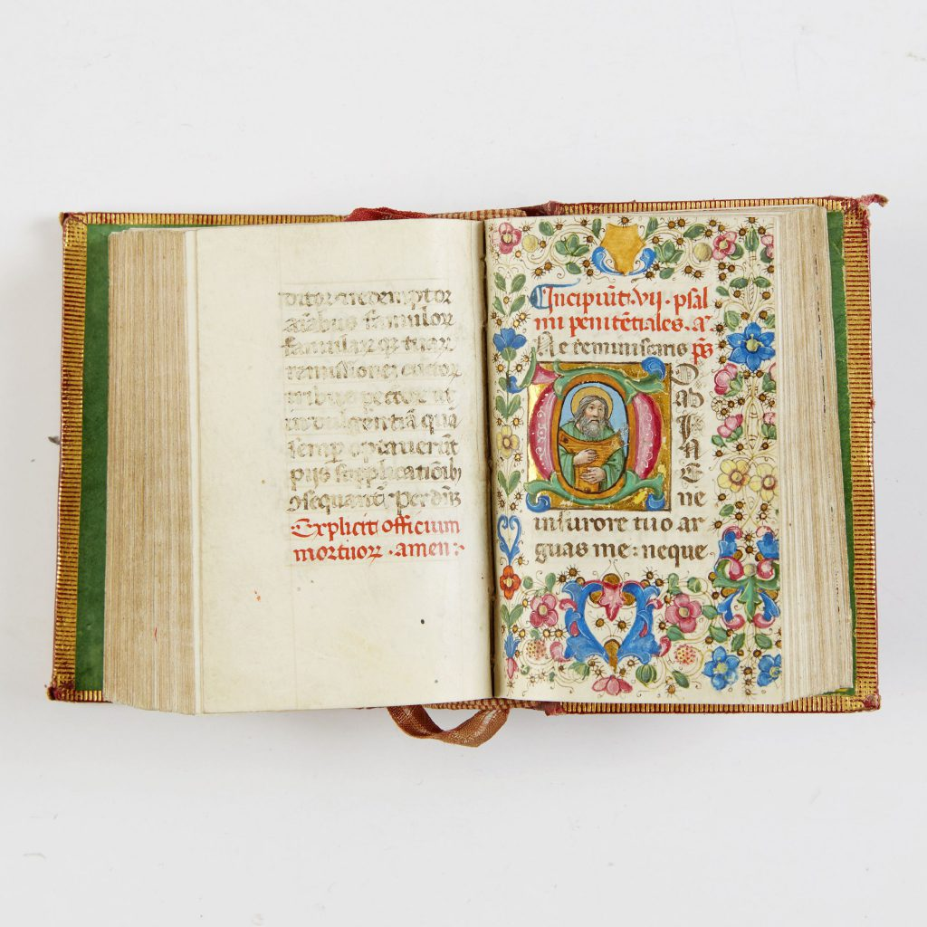 BOOK OF HOURS, Use of Rome, in Latin, illuminated manuscript on vellum. Northern Italy (most probably Florence), c. 1480. Price est.: € 2.700-3.200 €