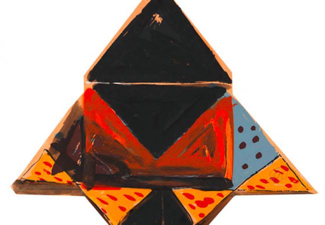 Markus Lüpertz. Ohne Titel (Schwalbenmotiv), 1978. Silkscreen in colors with gouache. 56,1 x 66,5 cm. Starting bid: 1130 €. Ketterer Kunst