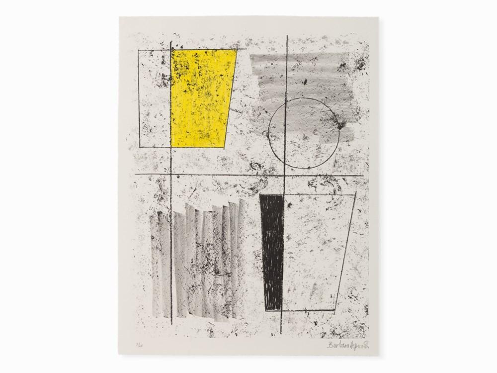 Barbara Hepworth, Three Forms Assembling, Lithograph, 1968 Price est.: 2,000 € Auctionata