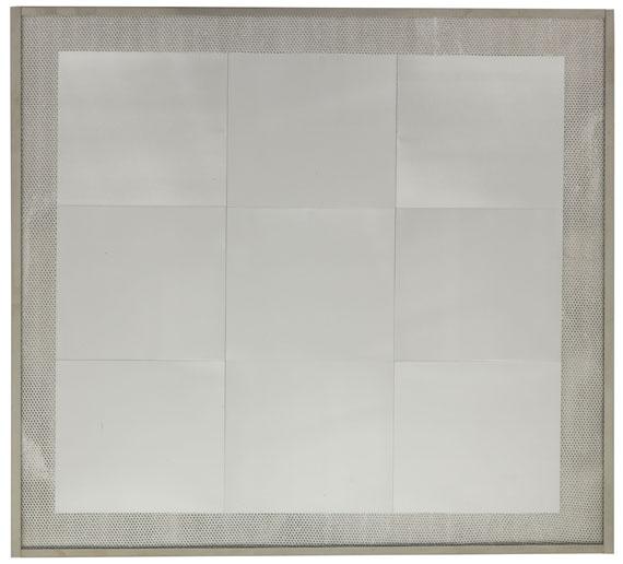 HEINZ MACK. For Piero Manzoni (in memoria Manzoni), 1969. Relief. Post auction sale: € 35,000 / $ 39,550