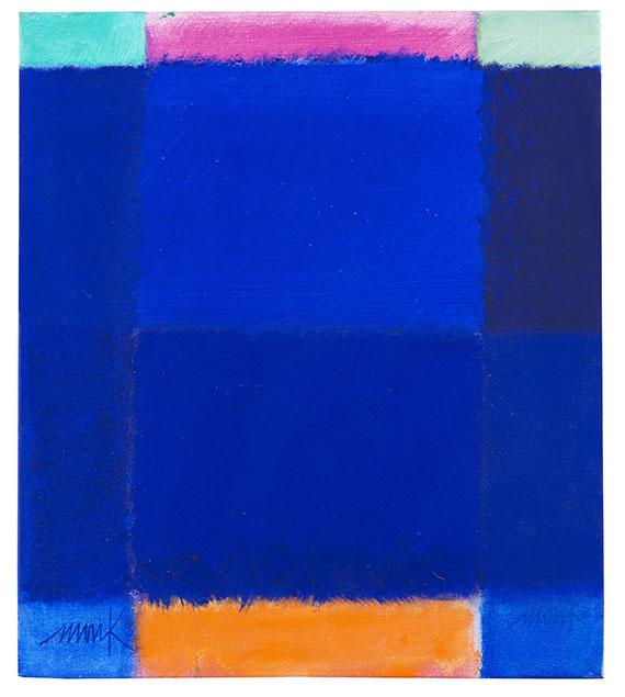 HEINZ MACK. Kleiner Farbdialog, 2003. Acrylic on canvas Estimate: € 40,000 / $ 45,200 Sold: € 67,500 / $ 76.275 Ketterer Kunst