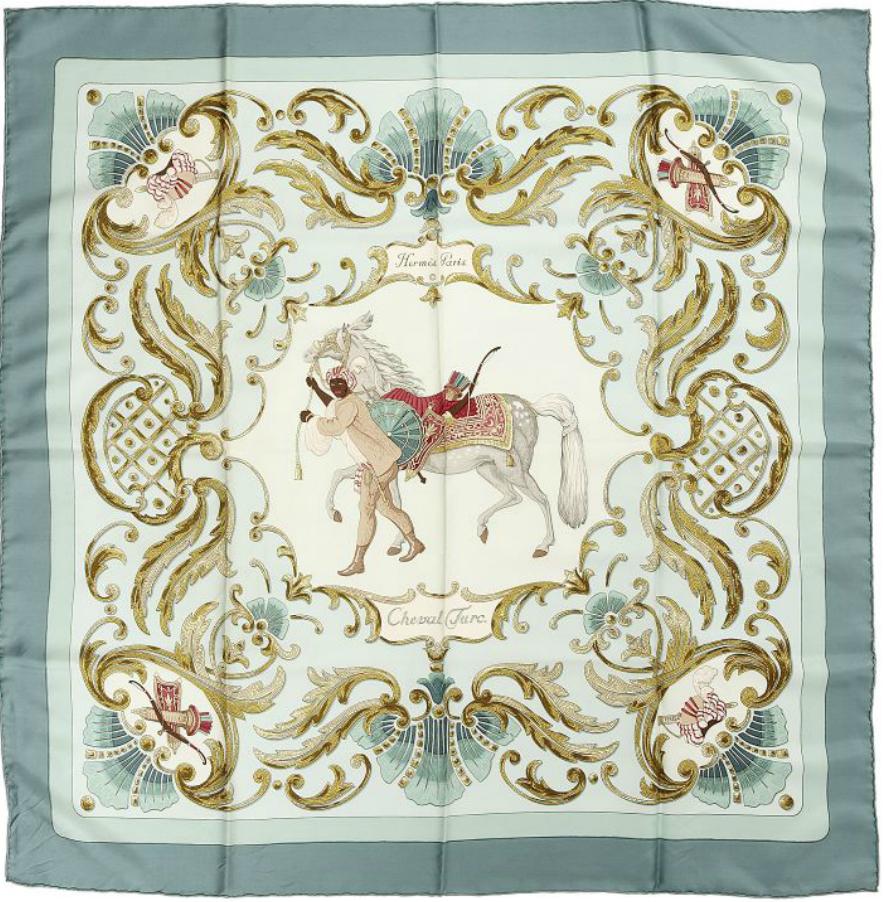 Hermés Carré scarf silk twill titled