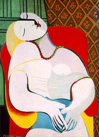 Picasso, Le Rêve (The Dream) (Portrait of Marie-Thérèse Walter) 1932. Private collection of Steven A. Cohen.