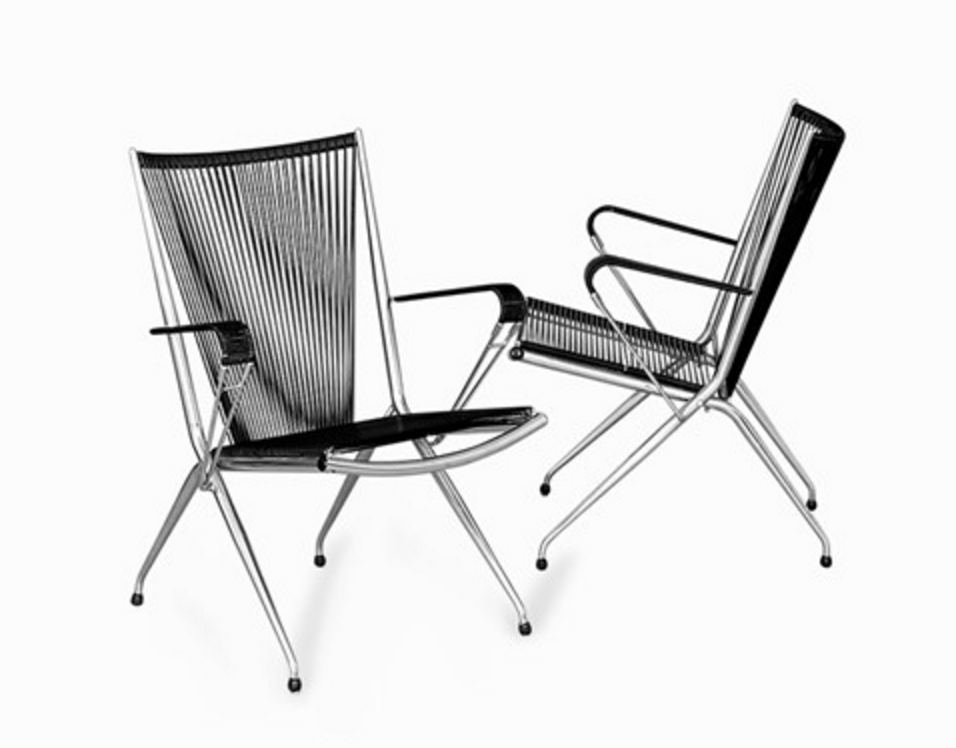 Andre Monpoix, Pair of Folding Chrome Armchairs, France, 1950`s. € 950 at Auctionata