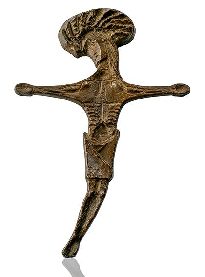 Joseph Beuys (1921 - 1986) Dornenkronenkreuz, ca. 1950. Bronze. Monogrammed. L. 34,5 cm