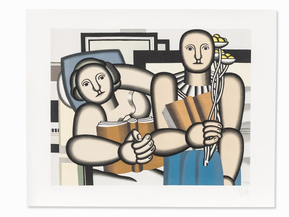 Fernand Léger, La Lecture, Lithograph in Colors, 1953 Price est.: € 6,000 Auctionata