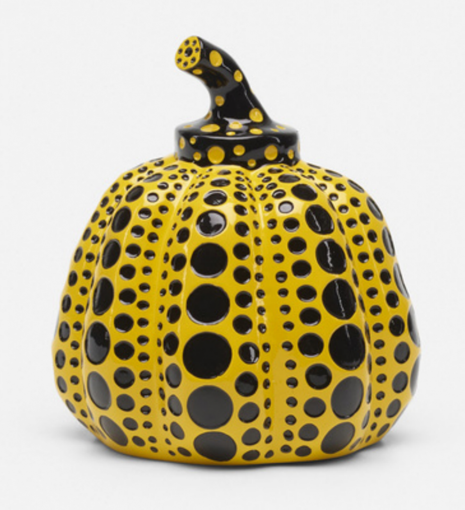 YAYOI KUSAMA Pumpkin Japan, 2013 glazed ceramic 3¾ h x 3¼ dia in (10 x 8 cm) estimate: $1,500–2,000 Wright 20