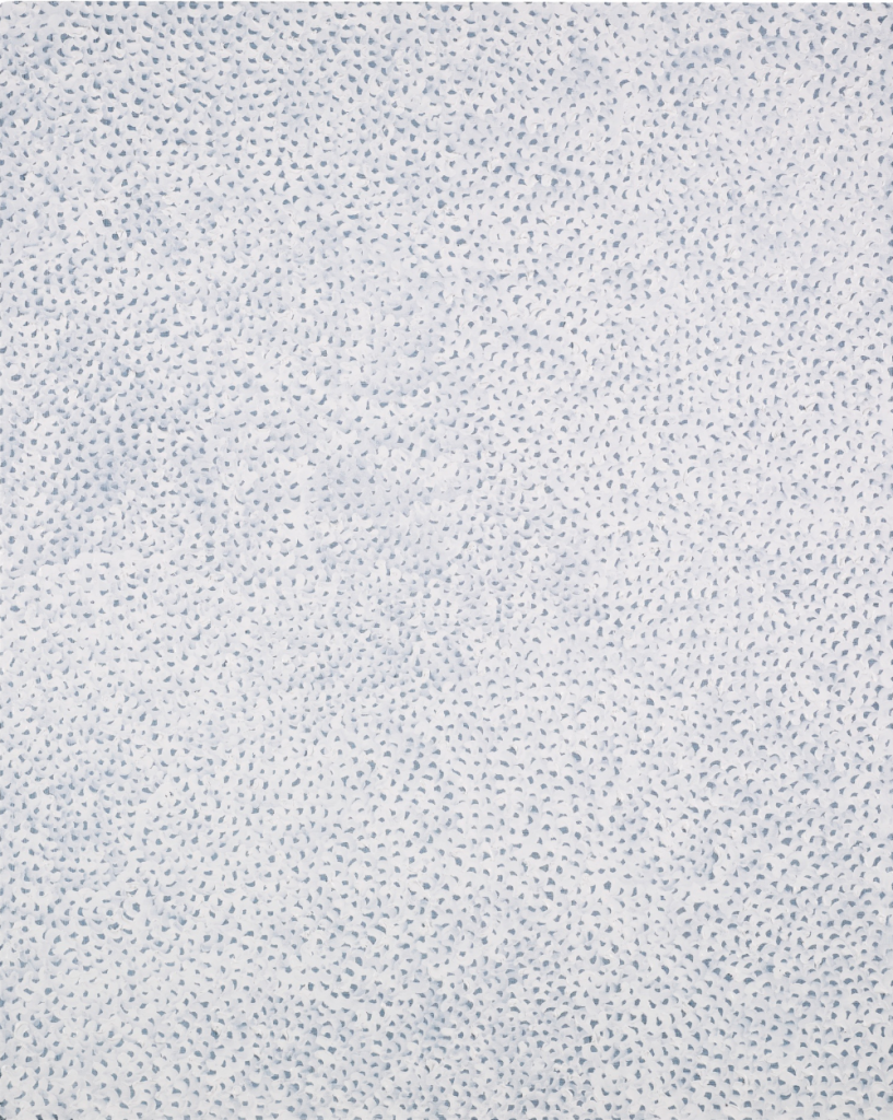 Yayoi Kusama b. 1929 INFINITY NETS. 2006. Acrylic on canvas. Sold for 677,000 GBP at Sotheby's London, June 2016