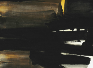 "Pierre Soulages: ""Peinture"", 1963. Signed Soulages; dated on the reverse. Oil on canvas. 97 x 130 cm. Sold for: Photo courtesy of Bruun Rasmussen"