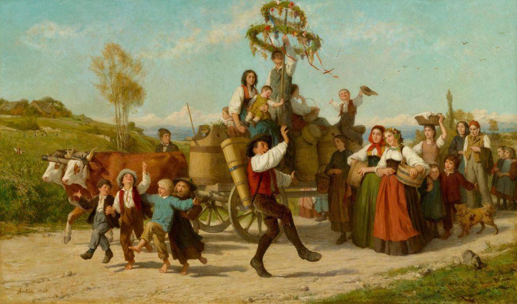 Albert Anker (1831-1910) Das Winzerfest. 1865. Oil on Canvas. 108 x 182 cm. Sold for: at Koller. Photo courtesy of Koller