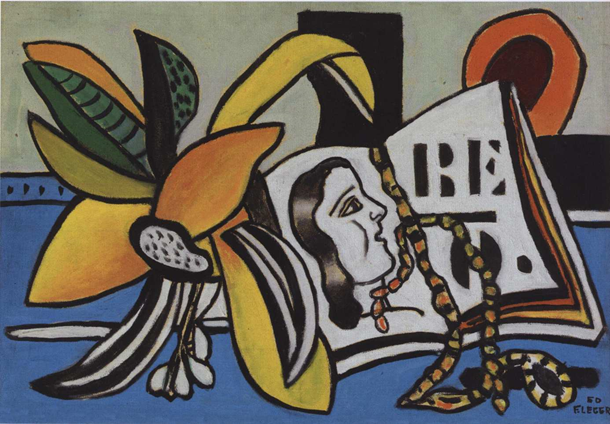 Fernand Léger (French, 1881–1955), Une Fleur Et Une Figure, 1950. Oil on canvas. 50.17 x 65.25 cm. Sold for: at Tajan. Photo courtesy of Tajan