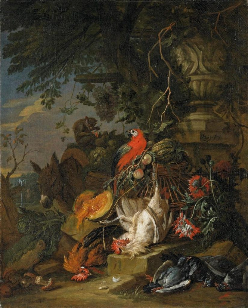 Adriaen de Gryeff, circa 1670 Antwerp - 1715 Brussels, Still Life with Animals. Oil on canvas. Sold for €10.890 at Lempertz