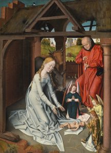 Workshop of Hans Memling (1435–1494) The Nativity, oil on panel, 99.2 x 72.5 cm Price realised €1,200,000 Photo courtesy of Dorotheum