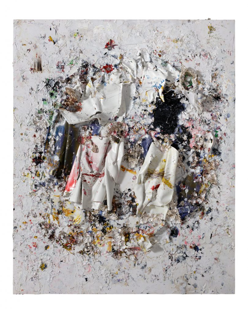 Michael Chow Untitled 2016 Mixed Media on Canvas 96 x 72 inches (243.8 x 182.9 cm) (MC974) courtesy of the artist and barbara davis gallery