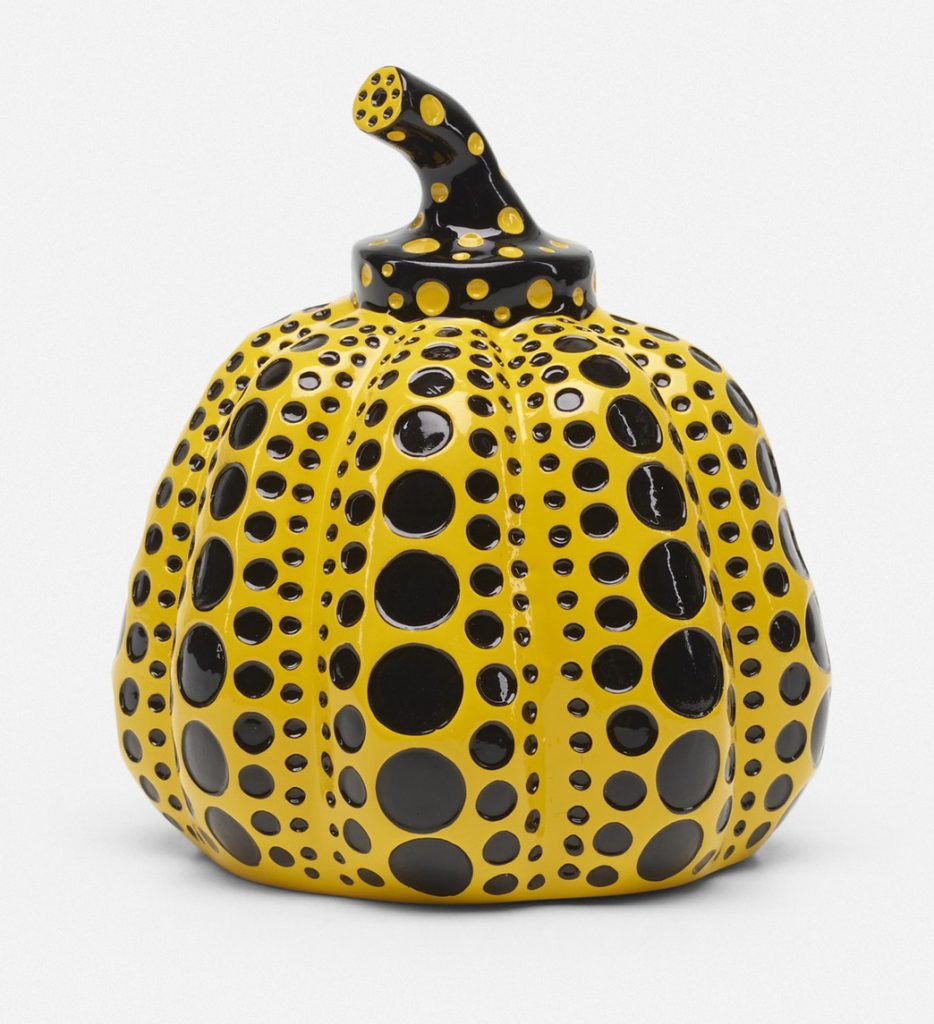 Pumpkin by Yayoi Kusama, Japan, 2013. Glazed ceramic. Sold for: $2,304 Price estimate: $1,500–2,000 Wright 20