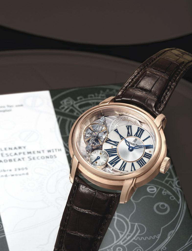 Audemars Piguet, Rare pink gold semi-skeletonized wristwatch, c. 2009. Sold for € 54,751 at Sotheby's Hong Kong