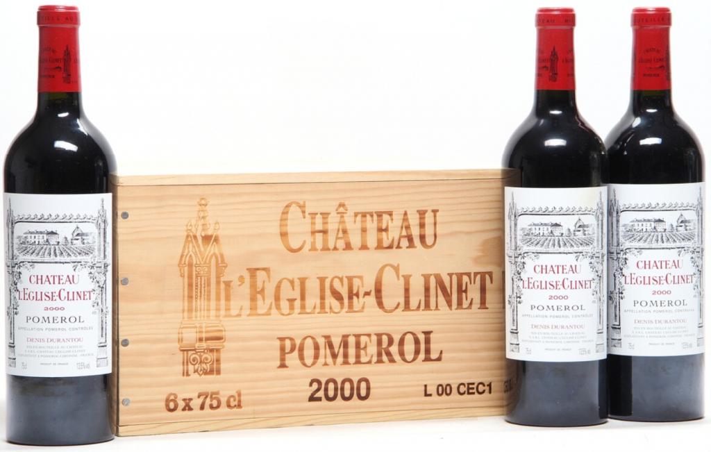 12 bts. Château l'Eglise-Clinet, Pomerol 2000 A (hf/in). Owc. Price est.: € 2,700-3,500 Bruun Rasmussen