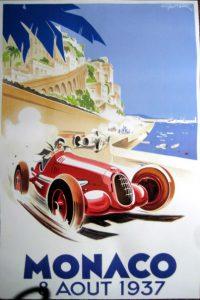 Touristic poster: Grand Prix Monaco (1937)